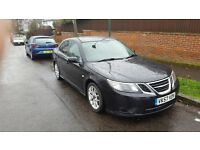 SAAB 9-3 in Great condition. SAT NAV, LEATHER, 180Bhp, PARKING SENSORS, CLIMATE CONTROL, BLUETOOTH.