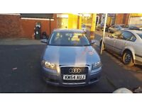 Audi A3 Auto DSG Full Leather Interior.face lift front bumper and grill.car CAT C repairable