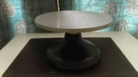 Metal pottery banding wheel