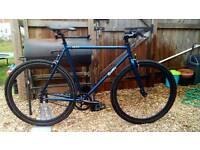 Quella Nero Midnight Blue 58cm Fixie / Single Speed City Bicycle