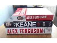 Man United autobiography x3
