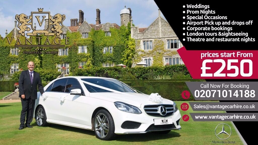 Chauffeur Hire Wedding Car Hire Prom Airport Transfer Mercedes Hire ...