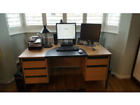 Free: Office desk, 5 drawers good condition