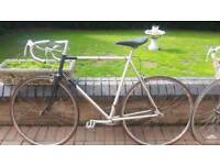 Raleigh bike and Peugeot bike