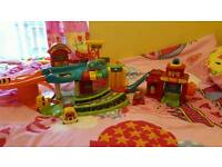 Vtech toot garage and fire station with 3 toot toot cars