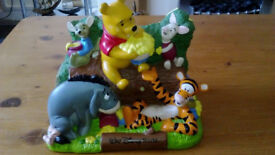 Walt Disney World Winnie The Pooh and Friends Money Box Collectible Figure.