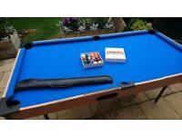 Pool table by itself FREE. With balls and cue £15