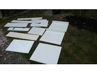 White cabinet cutouts