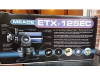 MEADE ETX-125EC ASTRONOMICAL TELESCOPE & TRIPOD