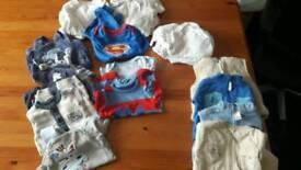 Range of baby clothes newborn to 12months