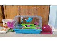 Hamster Home with Accesories for sale