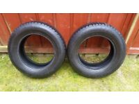 REDUCED!!! Moving, must go - Kumho KC11 Powergrip Snow Tyre 205/65/15 Winter tires - 2 for 15 GBP