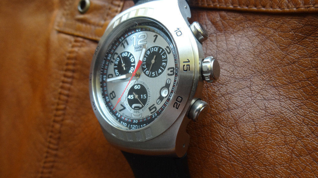 swatch Mens Chronograph Swiss made Watch
