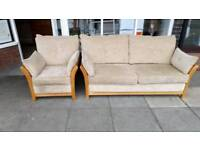 Sofa and chair matching £75