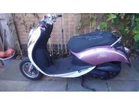 sym mio 100 with a 50 engine fitted full mot piaggio gilera aprilia derbi scooter 50cc 4 stroke