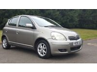 TOYOTA YARIS 1.3 5DR, WARRANTED MILES 65500,HPI CLEAR, MOT TILL MAY 2017