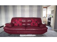 2 & 3 seater genuine leather couches