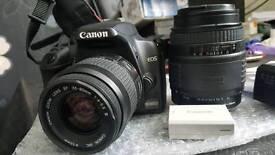 Canon EOS 1000D Digital SLR camera with 2x lenses
