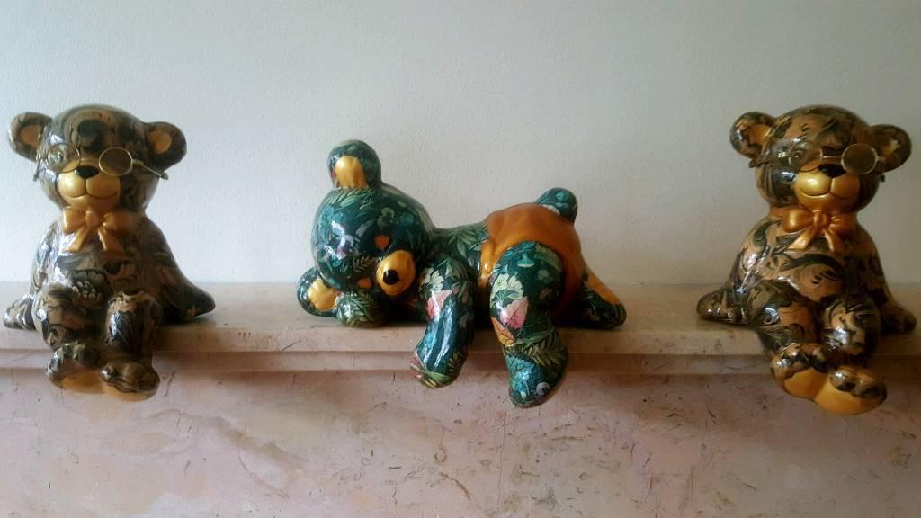 Three Highly Ornamental Decorative Bears.