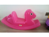 Little Tikes rocking horse.Pink.Very good condition.