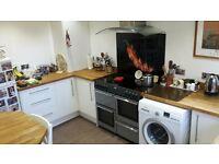 Solid oak worktop kitchen & range cooker