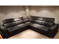 Delivery 1-10 days BARLETTA Corner Sofa Bed Leather Brand New Bed Function and Storage