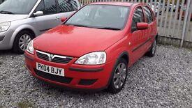 Vauxhall CORSA 1199cc PETROL, HATCHBACK, MANUAL,RED, 2004(04) FULL MOT.