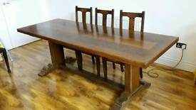 Large oak table and 6 chairs