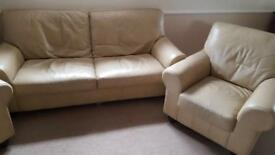 Cream Leather Sofas for Sale
