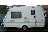 light 2 berth caravan with motor mover