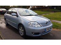 2006 56 Toyota Corolla T3 1.4 Manual Petrol 64,000 miles, 12 months MOT