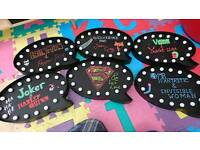 Light up chalk boards