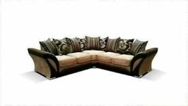 🔵💖🔴FASTEST DELIVERY 🔵💖🔴SHANNON - NEW FABRIC & FAUX LEATHER SHANNON CORNER/3 2 SEATER