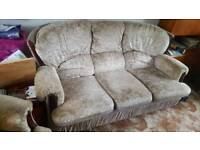 3seater sofa and arm chair