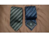 three silk ties