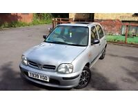 NISSAN MICRA, FULLY AUTOMATIC, 1LITER, ULTRA LOW MILEAGE, SUNROOF,BRAND NEW WHEEL TRIMS,8MONTHS MOT