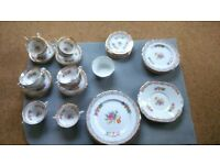 1950's Collingwoods Gilt Chintz Floral Bone China Set