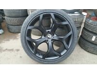 MINT CONDITION 22'' INCH BMW X5 ALLOYS WITH FREE TYRES ,BALANCE AND FITTING OPEN 7 DAYS