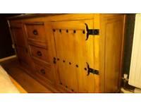 6ft pine sideboard or tv unit