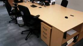 10 Office desk with draw and chair £40 a desk or £300 the lot