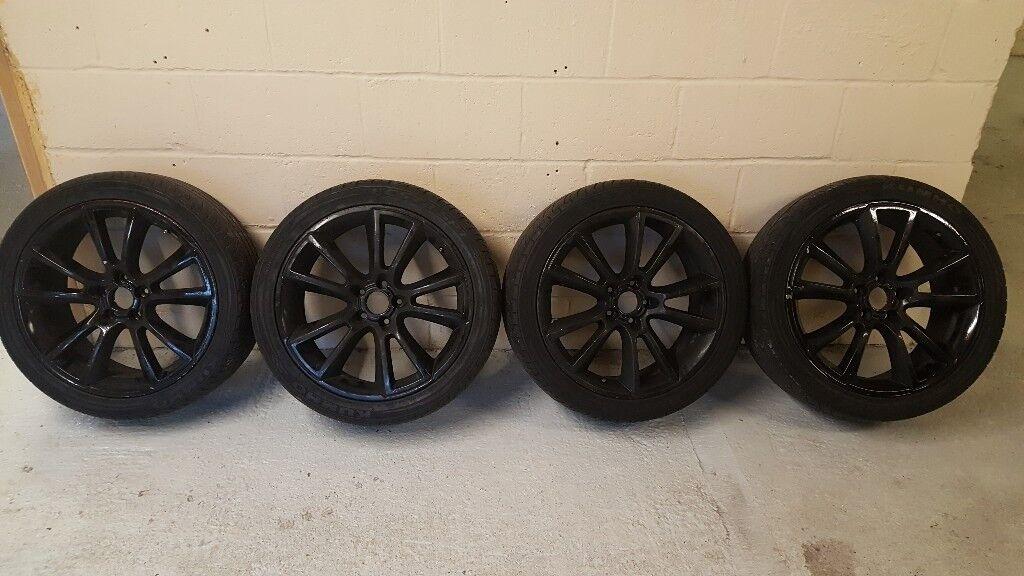 """Vauxhall Astra/Zafira/Vectra 19"""" VXR/GSI/SRI Alloy 5 Stud Alloy Wheels Set with tyres"""