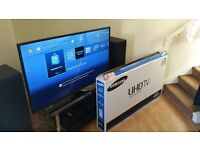SAMSUNG 48 INCH 4K, 3D, L.E.D, FREEVIEW HD, 2015 7 SERIES 48JU7000 MODEL.