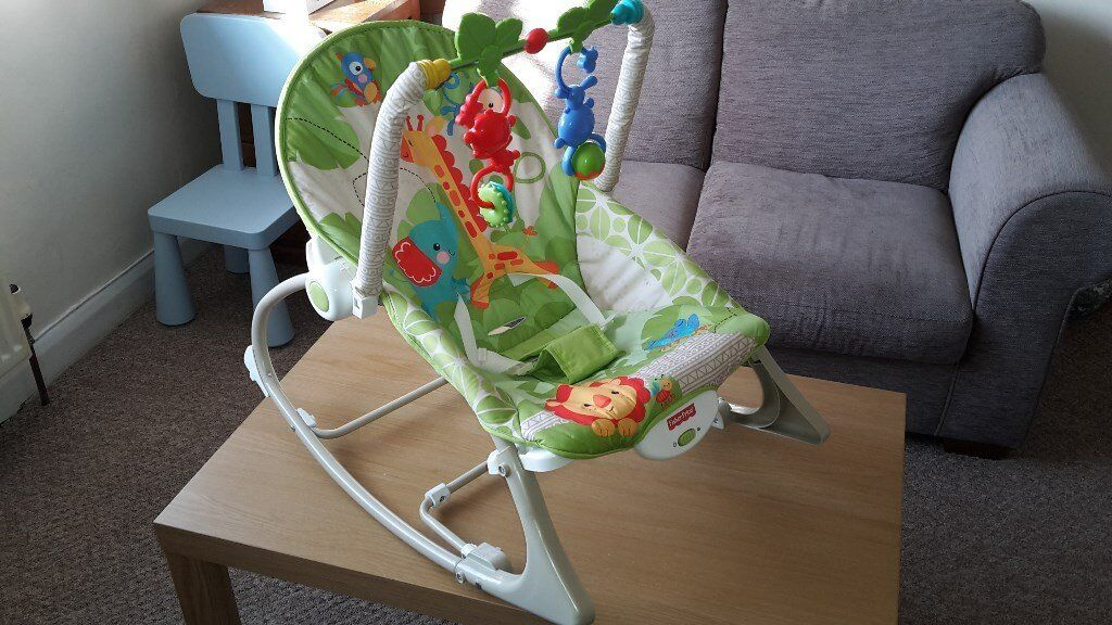 Fisher Price Rainforest Infant to toddler babay rockerin Wallington, LondonGumtree - Fisher Price Baby to toddler baby rocker. Excellent condition. Bought new, very well looked after. Used 2 months. Toy bar and toys never used