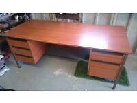 Double pedestal office desk.