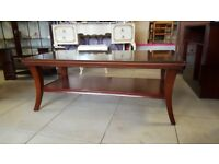 Mahogany 2 Tier Coffee Table