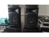 Proel passive speakers 500 watts Brilliant Sound