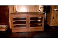 Mahogany effect tv cabinet.