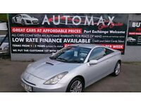 2003 TOYOTA CELICA 1.8 VVTI COUPE IN SILVER 96K WITH S/HISTORY LOTS OF BILLS JULY MOT CD E/W ALLOYS
