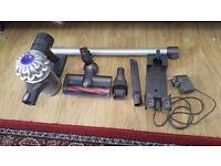 Dyson V6 cordless bagless slimline digital vacuum cleaner 12 months old