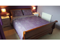 King Size Sleigh Bed Frame Solid Wood Great Condition